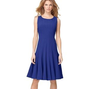 Calvin Klein A-Line Pleated Fit & Flare Dress